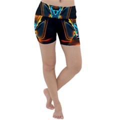 Duck Crazy Duck Abstract Lightweight Velour Yoga Shorts