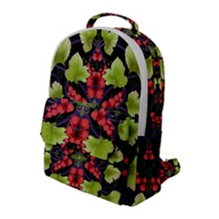 Pattern Berry Red Currant Plant Flap Pocket Backpack (large)