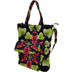 Pattern Berry Red Currant Plant Shoulder Tote Bag