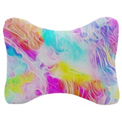 Background Drips Fluid Colorful Velour Seat Head Rest Cushion