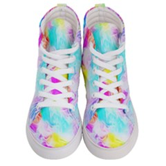 Background Drips Fluid Colorful Men s Hi Top Skate Sneakers