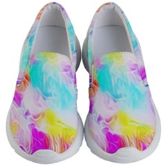 Background Drips Fluid Colorful Kid s Lightweight Slip Ons