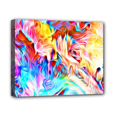 Background Drips Fluid Colorful Canvas 10  X 8  (stretched)