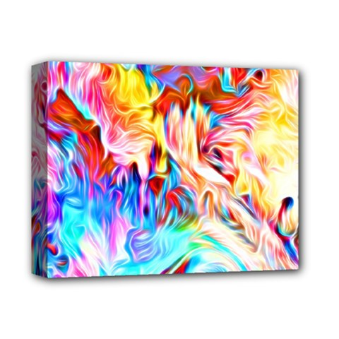 Background Drips Fluid Colorful Deluxe Canvas 14  X 11  (stretched)