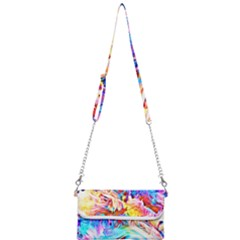 Background Drips Fluid Colorful Mini Crossbody Handbag