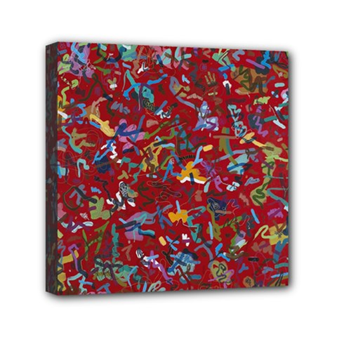 Painting Abstract Painting Art Mini Canvas 6  X 6  (stretched)