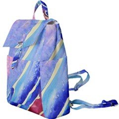 Painting Abstract Blue Pink Spots Buckle Everyday Backpack