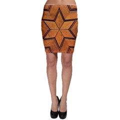 Wood Pattern Texture Surface Bodycon Skirt