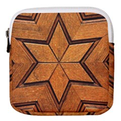 Wood Pattern Texture Surface Mini Square Pouch