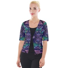 Phronesis Awareness Philosophy Cropped Button Cardigan by Bejoart