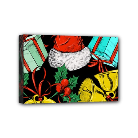 Christmas Gifts Gift Red Winter Mini Canvas 6  X 4  (stretched)