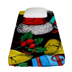 Christmas Gifts Gift Red Winter Fitted Sheet (single Size)