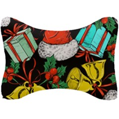 Christmas Gifts Gift Red Winter Seat Head Rest Cushion by Bejoart