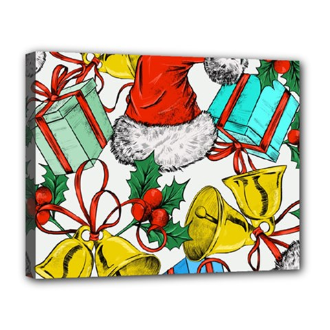 Christmas Gifts Gift Red December Canvas 14  X 11  (stretched)