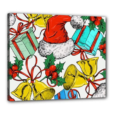 Christmas Gifts Gift Red December Canvas 24  X 20  (stretched)