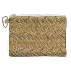 Esparto Tissue Braided Texture Canvas Cosmetic Bag (xl)