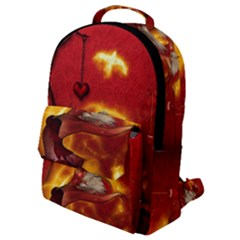 Wonderful Fairy Of The Fire With Fire Birds Flap Pocket Backpack (small)