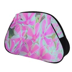 Hot Pink And White Peppermint Twist Garden Phlox Full Print Accessory Pouch (small) by myrubiogarden