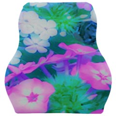 Pink, Green, Blue And White Garden Phlox Flowers Car Seat Velour Cushion