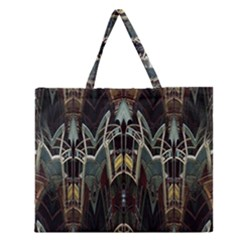 Modern Industrial Abstract Rust Pattern Zipper Large Tote Bag by CrypticFragmentsDesign