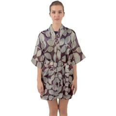 Wordsworth Leaves Quarter Sleeve Kimono Robe