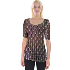 Wordsworth Purple Diamonds Wide Neckline Tee by DeneWestUK