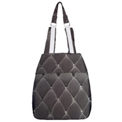 Wordsworth Grey Diamonds Center Zip Backpack