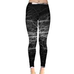 Flash Electricity Energy Current Inside Out Leggings by Bejoart