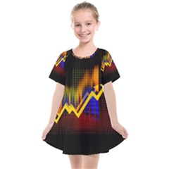 Logo Finance Economy Statistics Kids  Smock Dress by Bejoart