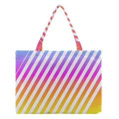 Abstract Lines Mockup Oblique Medium Tote Bag