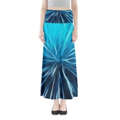 Background Structure Lines Full Length Maxi Skirt
