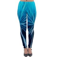 Background Structure Lines Lightweight Velour Leggings