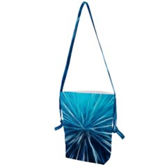 Background Structure Lines Folding Shoulder Bag by Bejoart