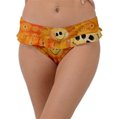 Sun Sunflower Smile Summer Frill Bikini Bottom