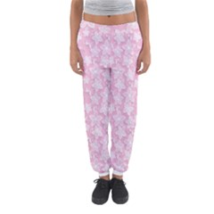 Pink Floral Background Women s Jogger Sweatpants by Bejoart