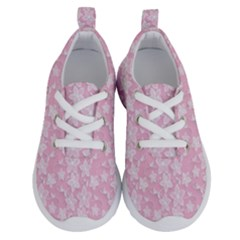 Pink Floral Background Running Shoes
