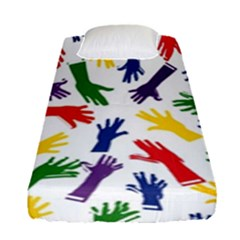 Integration Inclusion Hands Help Fitted Sheet (single Size)