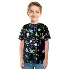 Christmas Star Gloss Lights Light Kids  Sport Mesh Tee