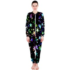 Christmas Star Gloss Lights Light Onepiece Jumpsuit (ladies)  by Bejoart