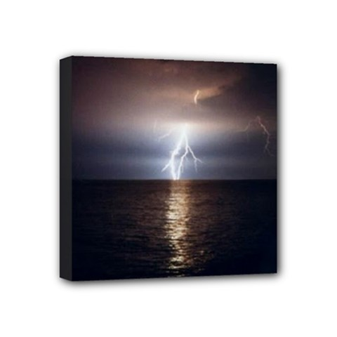 Lightning Strike  Mini Canvas 4  X 4  (stretched)