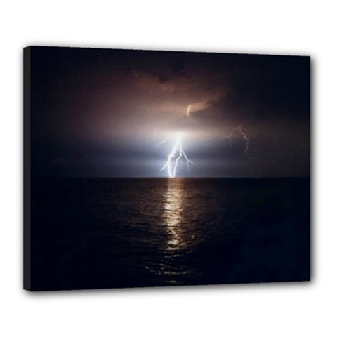 Lightning Strike  Canvas 20  X 16  (stretched)