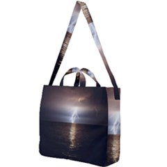 Lightning Strike  Square Shoulder Tote Bag