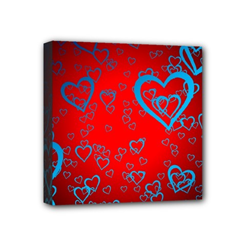 Heart Light Course Love Mini Canvas 4  X 4  (stretched)