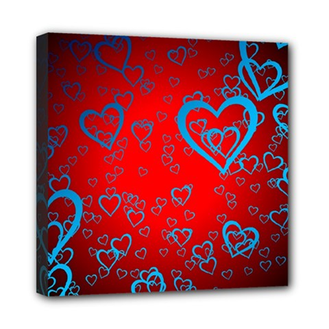 Heart Light Course Love Mini Canvas 8  X 8  (stretched)