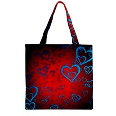 Heart Light Course Love Zipper Grocery Tote Bag