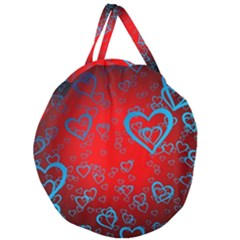 Heart Light Course Love Giant Round Zipper Tote