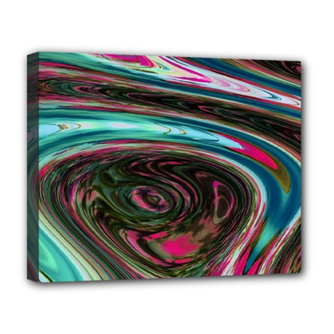 Streak Colorful Iridescent Color Deluxe Canvas 20  X 16  (stretched)