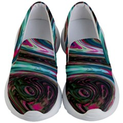 Streak Colorful Iridescent Color Kid s Lightweight Slip Ons by Bejoart