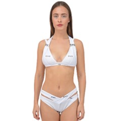 Network Social Abstract Double Strap Halter Bikini Set by Bejoart