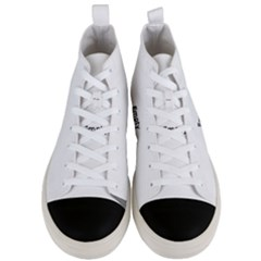 Network Connections Communication Men s Mid Top Canvas Sneakers